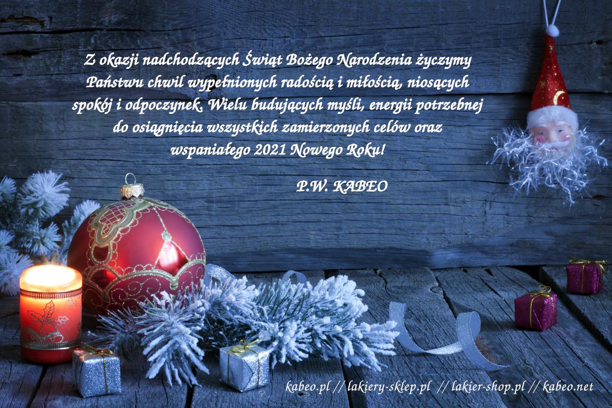 Życzenia Świąteczne 2020 - Lakier-Shop.pl